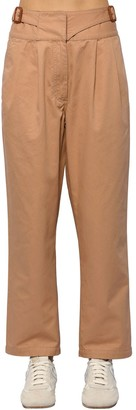 Loewe Cropped Cotton Canvas Chino Pants