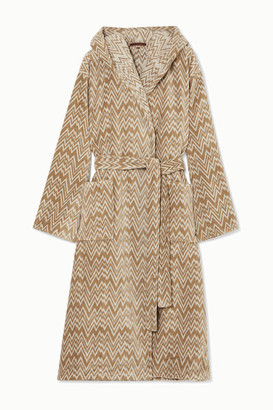 Missoni Home Vanni Hooded Cotton-terry Robe - Neutral