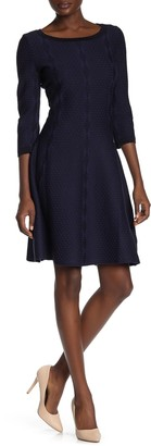 Gabby Skye Scalloped Trim Knit Dress