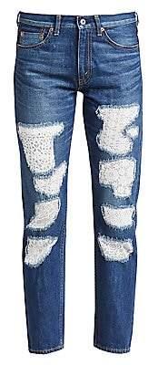 Junya Watanabe Women's Patchwork Lace Selvedge Denim Jeans