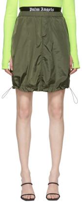 Palm Angels Green Balloon Miniskirt
