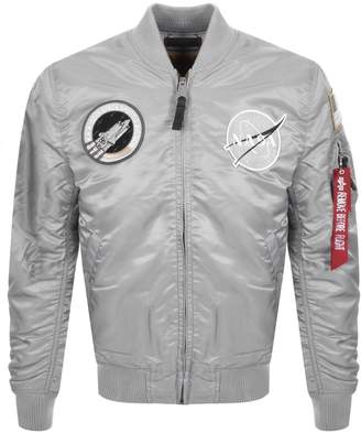 Alpha Industries MA 1 VF NASA Flight Jacket Silver