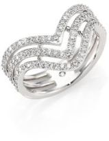 Adriana Orsini Armour Sterling Silver Chevron Ring