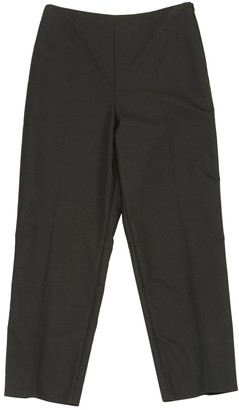 Saint Laurent Black Silk Trousers