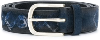 Orciani Leather Printed Belt