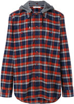 Givenchy hooded checked shirt - men - Cotton - 38