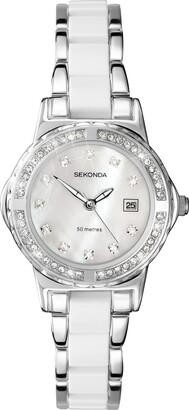 Sekonda Moonlight 4674 Pearl Ladies White Crystal Set Watch