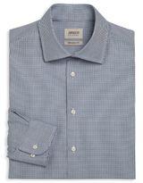 Armani Collezioni Modern Fit Micro Square Dress Shirt