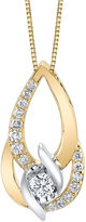 Sirena 3/8 CT. T.W. White Diamond Round 14K Gold Pendant