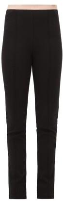 Gucci Logo-jacquard Pintucked Leggings - Womens - Black