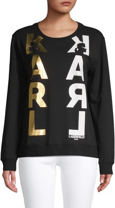 Karl Lagerfeld Paris Logo Graphic Sweatshirt