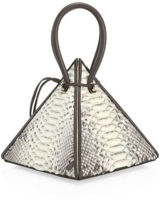 Nita Suri Lia Pyramid Python Top Handle Bag