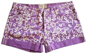 Diane von Furstenberg Purple Denim - Jeans Shorts
