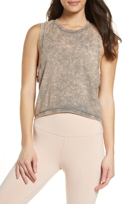 Washed Love Crop Tank Top