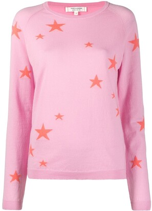 Chinti and Parker Star Intarsia Cashmere Jumper