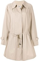 Chanel Pre Owned flared drawstring short coat