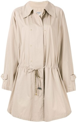 Chanel Pre-Owned flared drawstring short coat
