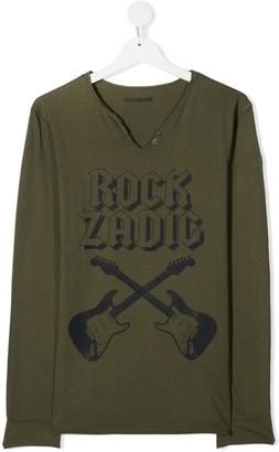 Zadig & Voltaire Kids TEEN Rock Adic henley top
