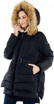 Valuker Women's Down Coat With Fur Hood 90D Parka Puffer Jacket 25-S