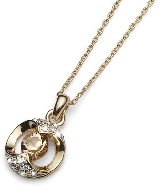 Oliver Weber Gold Plated Pendant with Mixed Swarovski Crystals on an Extendable Chain 40.25cm