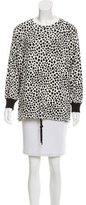 Chloé Cheetah Printed Crew Neck Sweatshirt