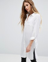 Noisy May Long Shirt with Buckle