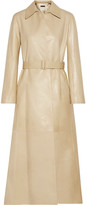 The Row Neyton Belted Leather Coat - Sand