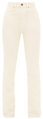 KHAITE Daria High-rise Slim-leg Jeans - Ivory