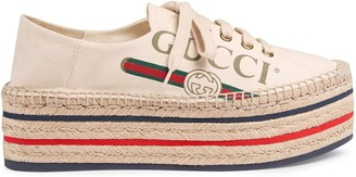 Gucci logo platform espadrilles