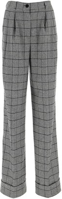 Dolce & Gabbana Checked Wide Leg Pants