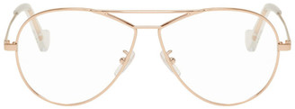 Loewe Rose Gold Metal Aviator Glasses