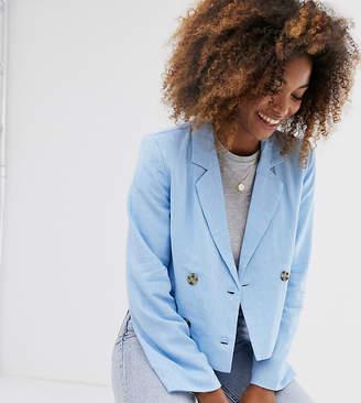Vila short double breasted blazer-Blue