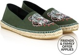 Kenzo Men's Tiger Embroidered Canvas Espadrilles