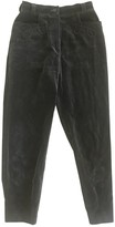 Escada Grey Velvet Trousers for Women