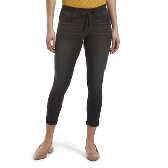 Hue Women's Sweatshirt Denim Cuffed Capri Leggings