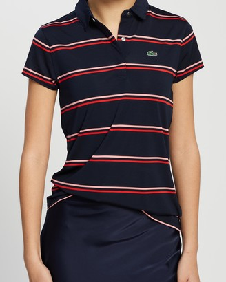 Lacoste Golf Striped Jersey Polo