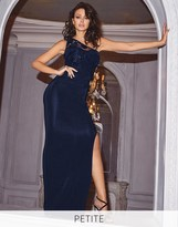 Lipsy Love Michelle Keegan Petite One Shoulder Sequin Detail Maxi Dress