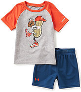 Under Armour Baby Boys 12-24 Months Peanut-Character-Screenprint Tee & Solid Shorts Set