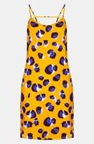 Topshop Animal Print Slip Dress