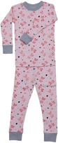 New Jammies Pink Slippers Organic Pajama Set - Infant Toddler & Kids