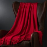 Crate & Barrel Tidings Red Throw