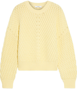 Vince Cropped Cotton-blend Sweater