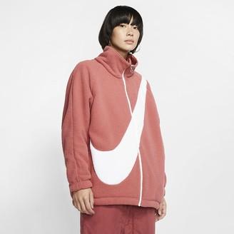Nike Womens Reversible Sherpa Jacket Sportswear Swoosh