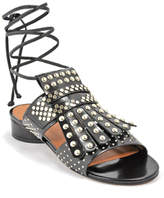 Robert Clergerie Figlouc - Leather Studded Flat Sandal