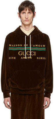 Gucci Brown Cotton Chenille Hoodie
