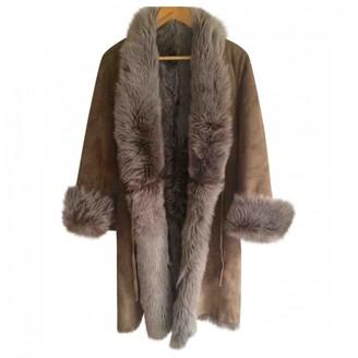 BEIGE Ines Et Marechal Shearling Coat for Women