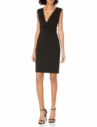 Bebe Women's Little Black Dress with Plunging Deep V Neckline 10
