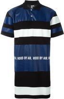 Hood by Air panelled oversized polo shirt - men - Cotton - S