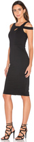 Donna Mizani Cold Shoulder Midi Dress
