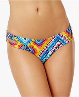Jessica Simpson Surfside Reversible Cutout Printed Bikini Briefs